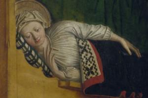 Meister der Uttenheimer Tafel (tätig um 1460-80) Рождение Марии_1.jpg